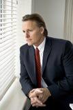 Homme d'affaires pensif Image libre de droits