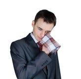 Homme d'affaires pleurant Photographie stock