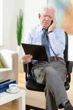 Homme d'affaires plus âgé Image stock