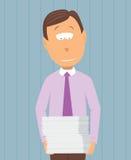 Travail en suspens/rapports de transport d'homme d'affaires illustration de vecteur