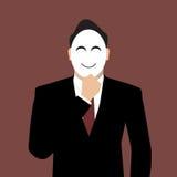 Homme d'affaires portant un masque Photos libres de droits