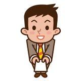 Homme d'affaires pour passer une carte de visite professionnelle de visite illustration libre de droits