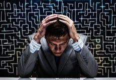 Homme d'affaires préoccupé Image stock