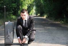 Homme d'affaires prêt à aller Images libres de droits