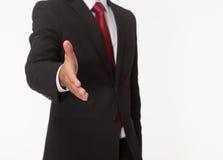 Homme d'affaires prêt pour la prise de contact Image libre de droits