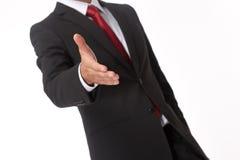 Homme d'affaires prêt pour la prise de contact Photo libre de droits