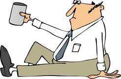 Homme d'affaires priant pour le changement illustration de vecteur