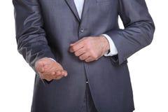 Homme d'affaires priant pour une certaine somme d'argent Photo libre de droits