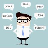 Homme d'affaires Programming Languages illustration libre de droits