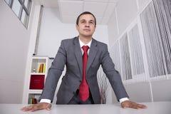 Homme d'affaires puissant au bureau images libres de droits