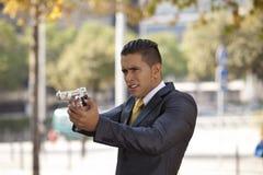 Homme d'affaires puissant de garantie Photo stock