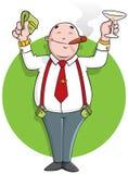 Homme d'affaires réussi de dessin animé illustration stock