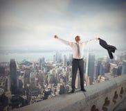 Homme d'affaires réussi et ambitieux Image libre de droits
