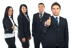 Homme d'affaires réussi et son travail d'équipe Image libre de droits