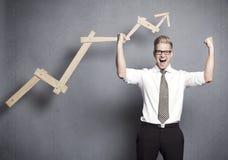 Homme d'affaires réussi intense. photos libres de droits
