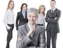 Homme d'affaires réussi sur le fond de l'équipe d'affaires Image libre de droits