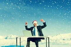 Homme d'affaires Ready pour le concept gai de Noël images libres de droits