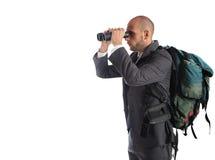 Homme d'affaires recherchant des affaires nouvelles Photo libre de droits