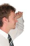 Homme d'affaires regardant dans la distance image libre de droits