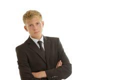 Homme d'affaires regardant sérieusement Photo stock