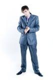 Homme d'affaires regardant sérieusement Photo libre de droits