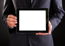 Homme d'affaires retenant la tablette digitale Image libre de droits
