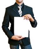Homme d'affaires retenant le papier Photos libres de droits