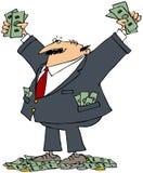 Homme d'affaires riche illustration libre de droits
