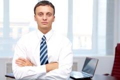 Homme d'affaires sérieux Photographie stock libre de droits