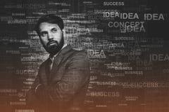 Homme d'affaires sûr, concept d'affaires Images libres de droits