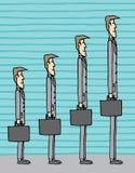 Croissance d'homme d'affaires Illustration de Vecteur