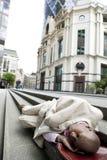 Homme d'affaires sans foyer Photographie stock libre de droits
