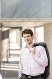 Homme d'affaires satisfaisant de sourire photo libre de droits