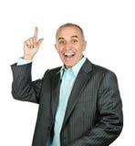 Homme d'affaires se dirigeant vers le haut Photographie stock libre de droits