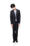 Homme d'affaires semblant déprimé du travail Photo libre de droits