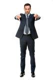 Homme d'affaires semblant fâché Image libre de droits
