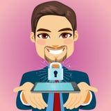 Homme d'affaires Smartphone Security Lock illustration libre de droits
