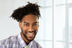 Homme d'affaires Smiling d'afro-américain Photographie stock
