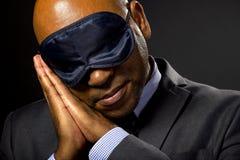 Homme d'affaires somnolent Image libre de droits