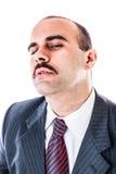 Homme d'affaires somnolent image stock