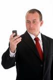 homme d'affaires son téléphone photographie stock libre de droits