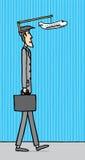Homme d'affaires ayant besoin de vacances illustration de vecteur