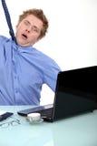 Homme d'affaires soumis à une contrainte Photo stock
