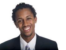 Homme d'affaires - sourire heureux Image libre de droits