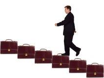 Homme d'affaires sur l'escalier de carrière Photographie stock libre de droits
