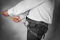Homme d'affaires sur la corde s'élevante Photos libres de droits