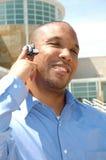Homme d'affaires sur la partie d'oreille photos libres de droits