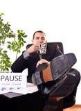 Homme d'affaires sur la pause photo libre de droits