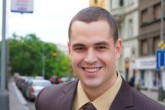 Homme d'affaires sur la rue photo libre de droits