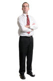 Homme d'affaires sur le blanc Photographie stock